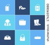 shoes icon set and freezer bag...