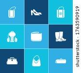 bags icon set and freezer bag...