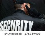 close up of a security guard... | Shutterstock . vector #176359409