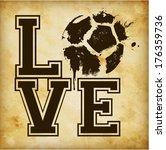 love football   soccer template ... | Shutterstock .eps vector #176359736