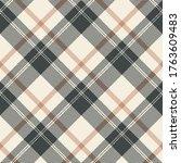 plaid pattern vector in grey ... | Shutterstock .eps vector #1763609483