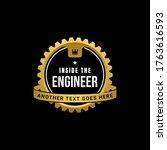 engineer gear badge logo... | Shutterstock .eps vector #1763616593