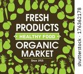 healthy food. vector background   Shutterstock .eps vector #176362178
