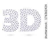 illustration of blue polygonal... | Shutterstock .eps vector #176362424