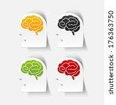 realistic design element  head... | Shutterstock .eps vector #176363750