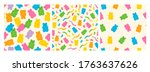 colorful fruity and tasty... | Shutterstock .eps vector #1763637626