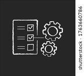 technical task chalk white icon ...   Shutterstock .eps vector #1763660786