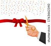 bussinesman hand holding... | Shutterstock .eps vector #1763662340