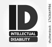 id   intellectual disability... | Shutterstock .eps vector #1763664986