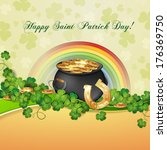 saint patrick's day card with... | Shutterstock .eps vector #176369750