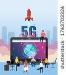 5g internet new mobile wireless ... | Shutterstock .eps vector #1763703326
