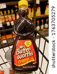Small photo of Chatham, NJ / USA - June 23, 2020: Amid growing protests against the use of racial, ethnic or sexist stereotypes, Conagra Brands says it will review the branding of its Mrs. Butterworth's maple syrup.