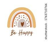 boho rainbow kids pastel... | Shutterstock .eps vector #1763710766