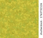 green seamless army camouflage  ... | Shutterstock .eps vector #1763732126