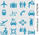 airport icons set.vector  | Shutterstock .eps vector #176378348