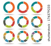 set icons circle arrows.... | Shutterstock .eps vector #176379233