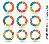 set icons circle arrows.... | Shutterstock .eps vector #176379233