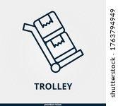 trolley icon  premium linear...
