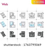 web icon set. included gift ...