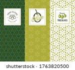 set of labels for olive oils... | Shutterstock .eps vector #1763820500