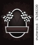 racing flags background   Shutterstock .eps vector #176382230