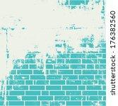 Plastered Brick Wall. Vector...