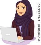 illustration of a girl wearing...   Shutterstock .eps vector #1763833790