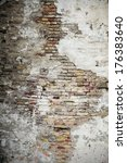 old grungy brick wall with... | Shutterstock . vector #176383640