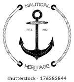 Vintage Nautical Badge With...