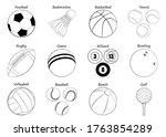 sports balls vector big set...