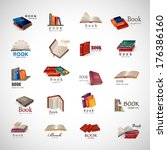 book icons set   isolated on... | Shutterstock .eps vector #176386160