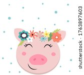 Pig Greeting Card  Baby Shower