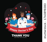 national doctor's day vector... | Shutterstock .eps vector #1763898383