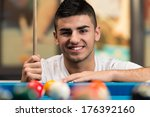 young man concentration on ball ... | Shutterstock . vector #176392160
