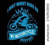 t shirt design for bike lover    Shutterstock .eps vector #1763923043
