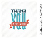 vintage thank you card | Shutterstock .eps vector #176393618