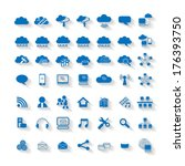cloud computing network web... | Shutterstock .eps vector #176393750