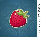 Retro Grunge Strawberry...