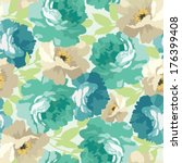 beautiful floral seamless... | Shutterstock .eps vector #176399408