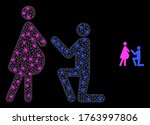 glowing web mesh pregnant woman ...   Shutterstock .eps vector #1763997806