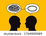 two people solve problem ... | Shutterstock .eps vector #1764000089