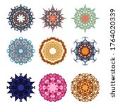 set mandala pastel background... | Shutterstock .eps vector #1764020339