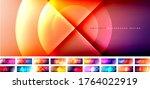 set of vector abstract... | Shutterstock .eps vector #1764022919