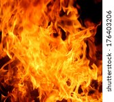 red fire and flames background | Shutterstock . vector #176403206