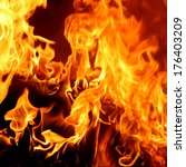 red fire and flames background | Shutterstock . vector #176403209