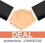handshake. deal. two... | Shutterstock .eps vector #1764037130