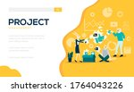 project management background.... | Shutterstock .eps vector #1764043226