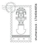 tumi  ceremonial knife  stamp ... | Shutterstock .eps vector #1764064856
