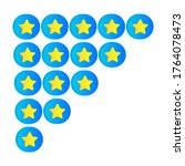 rating golden stars in 3d style....
