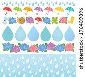 Set Of Rainy Day Illustrations.
